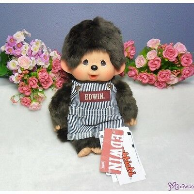 Edwin x Monchhichi Ver 2 Japan Limited M Size Plush Overall Jeans BOY ~~ RARE ~~