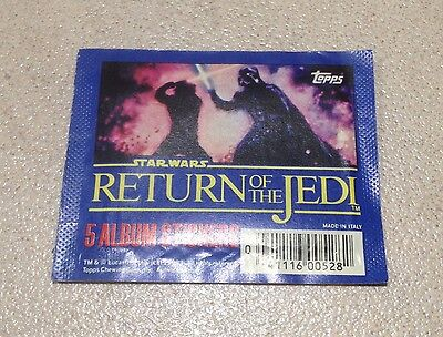 """1983 Topps """"Return of the Jedi"""" - Album Stickers Pack (5 Stickers)"""