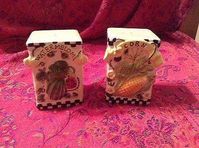 Vintage Pair of Salt & Pepper Shakers - Farmhouse Country Style