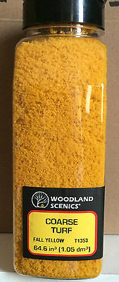 Woodland Scenics Coarse Turf Fall Yellow T1353 Factory Sealed