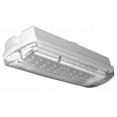HiSpec Lighting HSEM/LED IP65 3w LED Emergency Bulkhead Light Fitting Universal