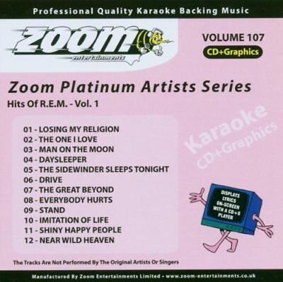Zoom Karaoke Platinum Artists Vol. 107 CD+G - Hits Of REM
