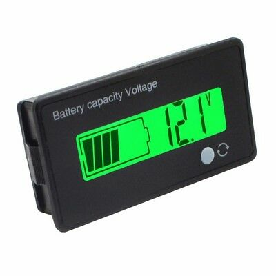 Capacity Battery Lead-acid 12V/24V LCD 8-70V Tester Checker Digital Voltmeter