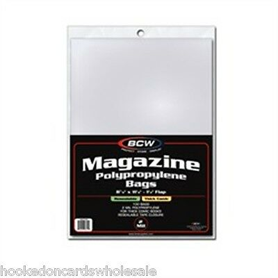 """1 Pack of 100 BCW 8 7/8"""" x 11 1/8"""" Resealable Thick Magazine Storage Bags"""