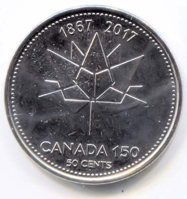2017 Uncirculated Canada 150 Half Dollar Coin - Canadian 50 Cents
