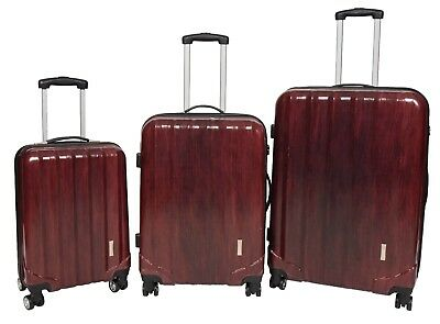 Lightweight PC Hard Shell 4 Wheel Suitcase Expandable Luggage Number Lock Red