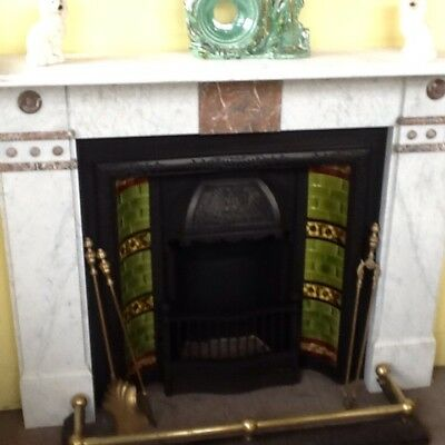 marble and cast iron  fireplace Victorian we deliver
