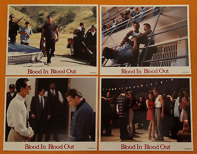 1993 BOUND BY HONOR - BLOOD IN BLOOD OUT rare 11x14 Lobby Card Set 8 cards