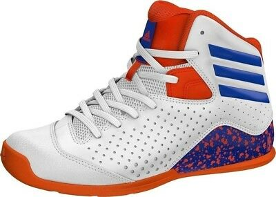 buy online cb7f6 19f02 Adidas Older Boys Nxt Lvl Spd 4 K Basketball Shoes Trainers White blue Uk 1
