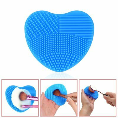 Cleaners Cleaning Glove MakeUp Washing Brush Scrubber Board Tools Blue/Rosy