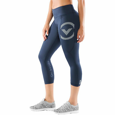 Virus Womens Stay Cool Compression 7/8 Length Pant (Eco28) - Navy-White - XLarge