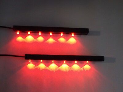 2 Large BBT Brand Marine Grade Red LED Waterproof Accent Lights