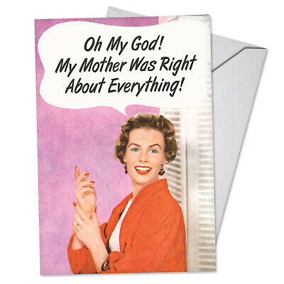 C5588BDG FUNNY BIRTHDAY Card Vintage Mother Was Right