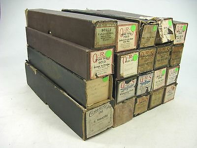 Lot of 20 Vintage Player Piano Rolls ~ Mostly QRS