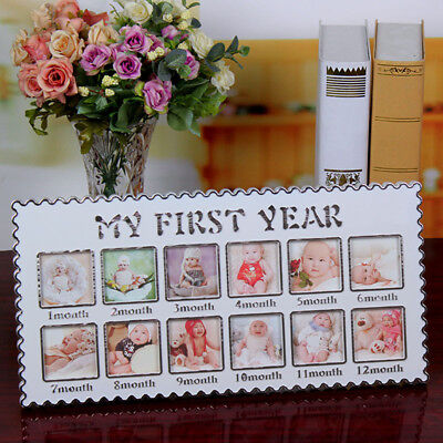 Baby 12 Month Photo Frame Infant First Year Multi Picture Display Newborn Gift