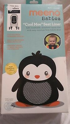 Meeno Babies Cool Mee Seat Liner 1-4 years Dark Grey Fits ALL Strollers