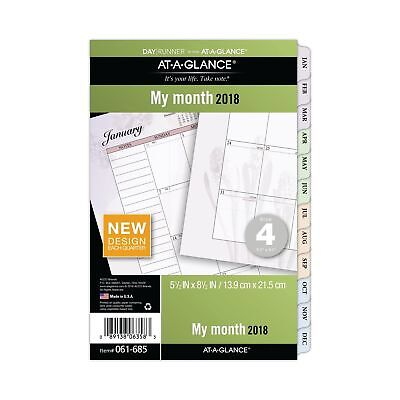 AT-A-GLANCE Day Runner Monthly Planner Refill, January 2018 - December 2018, ...