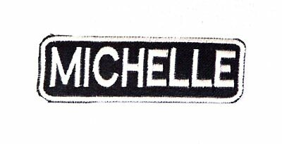 ART White on Black Iron on Name Tag Patch for Biker Vest NB199