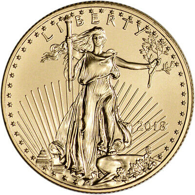 2018 American Gold Eagle (1/2 oz) $25 - BU