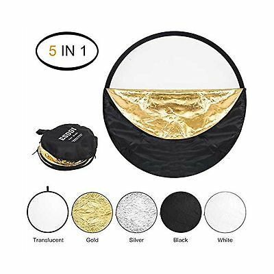 ESDDI 22inch Reflector 5 in 1 Portable Light Reflector Photography with Bag, ...