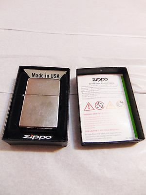 ZIPPO 207 Regular Street Chrome Lighter Windproof Made in USA NEW