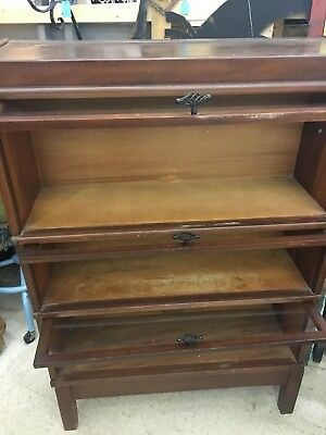 Globe Wernicke Bookcase 3 Section Barrister Stacking Bookcase Lawyer Bookcase