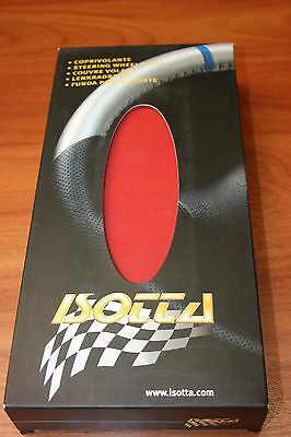 Couvre Volant en Cuir ROUGE & NOIR pour OPEL ASTRA.G 99>.ISOTTA Made in ITALY