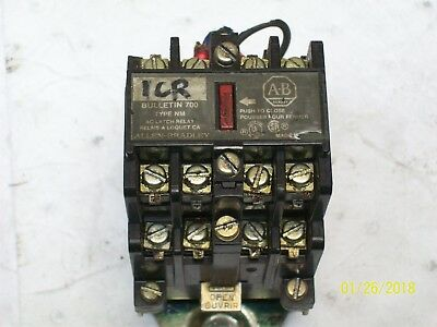 Allen Bradley Ac Latch Relay Bulletin 700 Type Nm 120V Coil , 700-Nm400A1