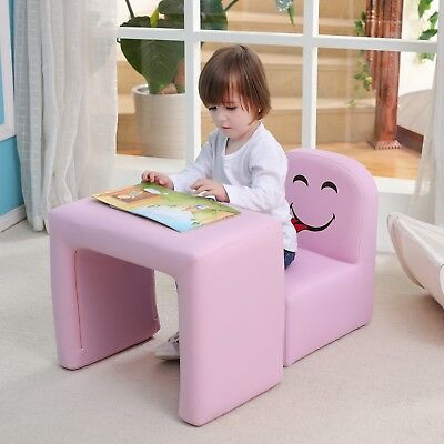 Multifunctional Children's Armchair, Emall Life Kids Chair and Table Set/Stool w