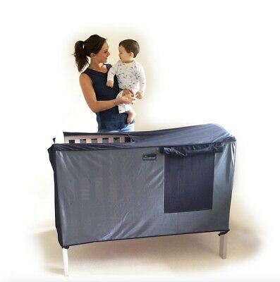 SnoozeShade for Cots - breathable blackout blind/curtain and cot canopy for cots