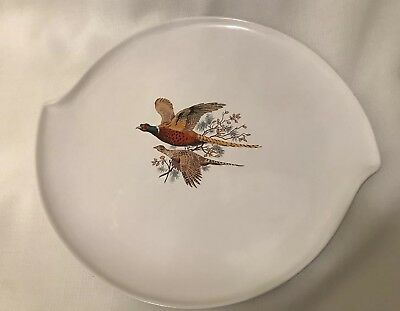 Vintage Gouda Regina Pheasant Plate Platter Made in Holland WB White