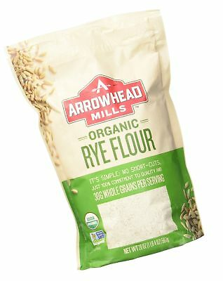 Arrowhead Mills Organic Rye Flour, 20 Ounce (Pack of 6) 20 Ounce (Pack of 6)