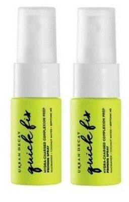 2 x URBAN DECAY Quick Fix Hydra-Charged Prep Priming Spray - 15ml TRAVEL SIZE