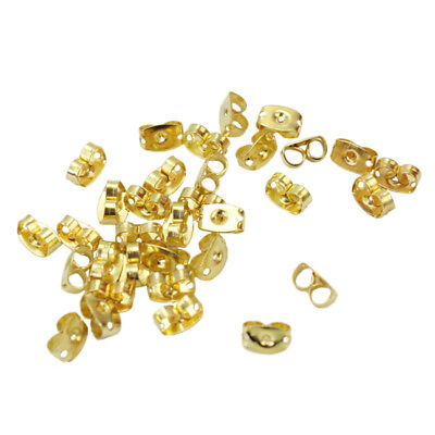 100x Hot Butterfly Style Earstud Ear Stud Back Stoppers Gold Tone 0.4x0.6cm