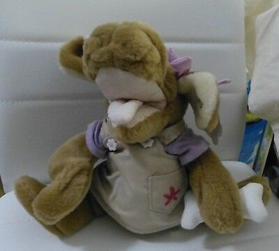 "Wrinkles Puppet  ""sandy""  Plush Toy - Ganz Bros   -  Original Dress"