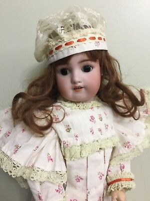 Antique Bisque Doll By Simon & Halbig 540 On A Comp Body 21""