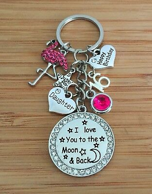 18th 21st 30th 40th mum Daughter Sister Happy BirthdayInitial  Gift keyring