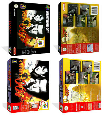 - GoldenEye 007 N64 Replacement Game Case Box + Box Cover Art Artwork Only