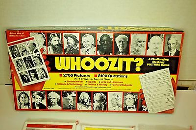WHOOZIT? A Challenging Strategy Picture Game - NEW UNOPENED CARDS 1985