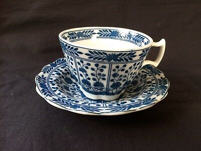 antique chinese porcelain cup and saucer. Blue Sealmark