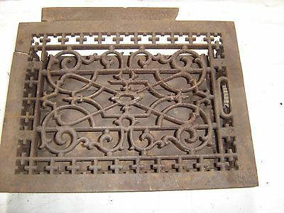 Antique Cast Iron Floor Furnace Grate Decorative Scroll Design.8086