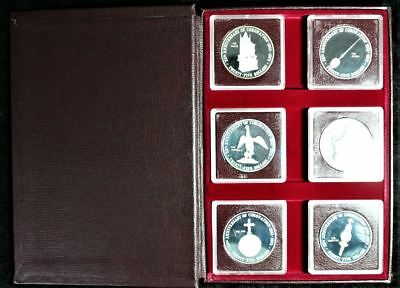 1978 Cayman Islands 25Th Anniversary Of The Coronation Silver Coin Set 9 Oz