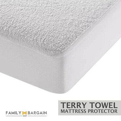 New Waterproof Terry Towel Mattress Protector Fitted Sheet Bed Cover Anti Bug
