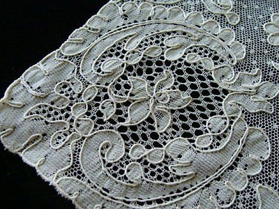 GORGEOUS Vintage French ALENCON Lace Doily Ivory Heavy Cordonette UNUSED