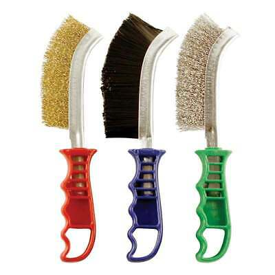 ABRACS 3 Piece Pack Mixed Scratch Brush Pack BRASS, STAINLESS STEEL & NYLON