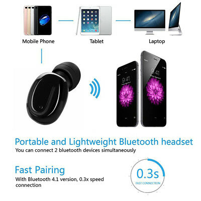 Q13 Mini Wireless Bluetooth Stereo In-Ear Earbud Car Headset Mic For IOS Android