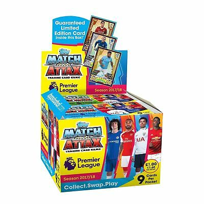 Match Attax Premier League 2017/18 Trading Card Game 10, 25 Packs Full Box of 50