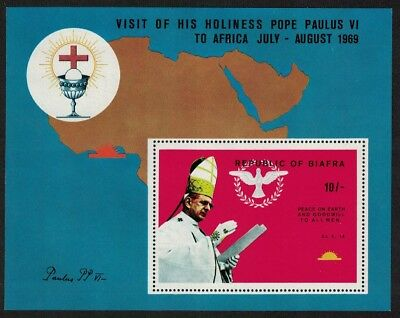 Biafra Visit of Pope Paul VI to Africa MS MI#Block 2A