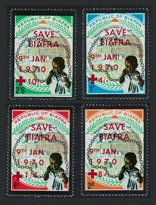 Biafra Second Independence with oveprint 'SAVE BIAFRA' Red Cross 4v