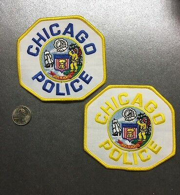 Lot Of Two 2 Chicago Illinois Police Department Patches Patch Il